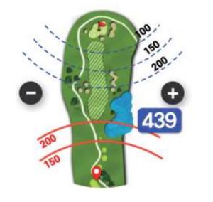 Golfbuddy aim W10 - Lochansicht