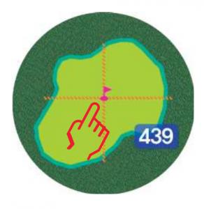 Golfbuddy aim W10 - Grünansicht