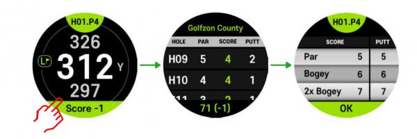golfbuddy scorecard
